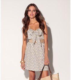 Vestido de topos lazada #dress #moda #verano #venca
