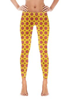 Abstract Pepperoni Pattern Leggings
