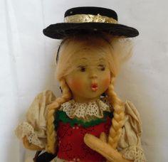 "Vintage Austria Baitz ""Tyrol"" Whistler Girl Doll National Costume Collectible | eBay"