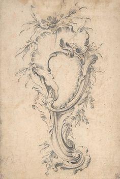 Rococo cartouche motif