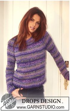 Free knitting patterns and crochet patterns by DROPS Design Ladies Cardigan Knitting Patterns, Cardigan Pattern, Knitting Patterns Free, Free Knitting, Free Pattern, Drops Design, Magazine Drops, Crochet Designs, Crochet Clothes