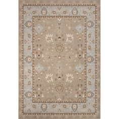 JaipurLiving Orient Wool Machine Made Taupe/Blue Area Rug Rug Size: