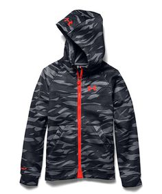 376b0370b6c2 Under Armour® Steel UA ColdGear® Infrared Softershell Hooded Jacket - Boys