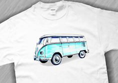 Volkswagen Bus TShirt Original Retro Design Available by TJaysTees, $18.00