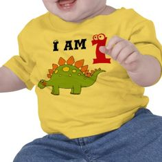 """I'm not keen on the dinosaur, but I like a shirt that says """"I am 1"""" - could be worn all year."""