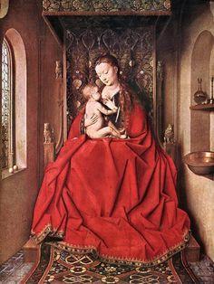 """Jan van Eyck """"La Virgen de Lucca"""""""