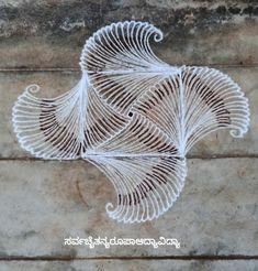 Simple Rangoli Designs Images, Small Rangoli Design, Beautiful Rangoli Designs, Rangoli Borders, Rangoli Border Designs, Kolam Designs, Embroidery Stitches Tutorial, Crewel Embroidery, Diya Rangoli