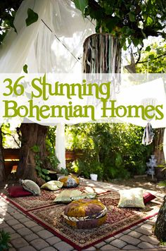 36 Stunning Bohemian Homes... I'm not really Bohemian, but these beautiful homes make me feel like napping :)