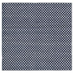 Cotton rug with a diamond motif. Product: RugConstruction Material: CottonColor: Navy