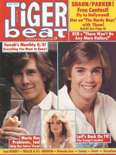 Tiger Beat - best magazine ever! - 3 year subscription 1977/78 & 79.  When this magazine arrived in my mailbox in a brown paper cover (no lie) I was beyond the moon!!!!