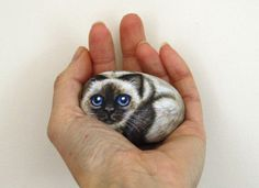 Custom Pet on a Stone Painted Animal Stone Commission: Small