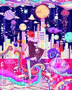 「海底都市」/「すもも」のイラスト [pixiv]