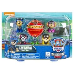 Paw Patrol Figure Set 6 Piece Mission Paw Mini Gift Exclusive Toys Kids Play New #PawPatrolFigureSet