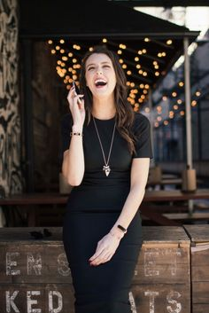 We'd be smiling too if we were wearing this killer little black dress paired with beautiful rose gold accessories and a stylish Mira wellness and activity bracelet. Learn more about the smart jewelry line designed to help women lead healthier, happier lives.