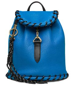 9144e0d7bc74 Acne Studios Rope jungle blue is a small leather backpack with large  whipstitch details perfect for daily use.