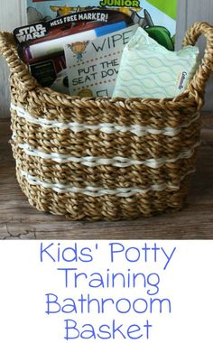 Kids' Potty Training Bathroom Basket + A FREE Printable from Momma Lew #CleanRippleStyle #ad
