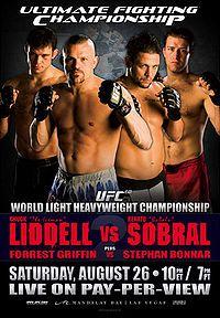 UFC 62: Liddell vs. Sobral.