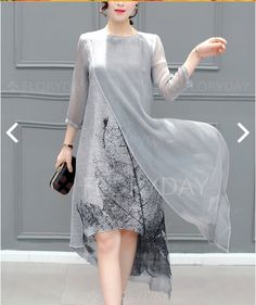 Buy Elegant Dress For Women at JustFashionNow. Online Shopping JustFashionNow Plus Size Gray Women Elegant Dress Crew Neck Asymmetrical Daytime Dress Sleeve Elegant Slit Dress, The Best Daytime Elegant Dress. Discover unique designers fashion at JustF Daytime Dresses, Shift Dresses, Women's Dresses, Dresses Online, Casual Dresses, Long Dresses, Ladies Dresses, Dress Long, Casual Wear
