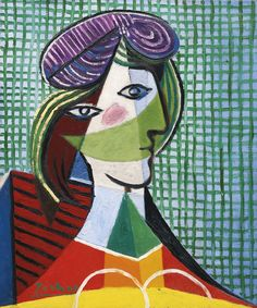 Pablo Picasso 1881 - 1973 TÊTE DE FEMME signed Picasso (lower left) oil on canvas 65 by 54cm. 25 5/8 by 21 1/4 in. Painted on 12th March 1935. Estimate      23,036,800 - 28,796,000USD LOT SOLD. 27,144,549 USD