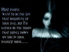 In your darkest hour...