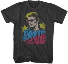 David Bowie T Shirt Smoking Official White ladies Tee NEW Classic Rock mens
