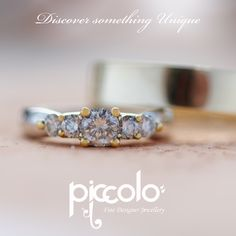 "Nicolene | ""I've opened my heart to love you…""  White & Yellow Gold Wedding Ring set with Diamonds weighing in just under 1ct. Start the journey of owning your own unique Wedding Ring 