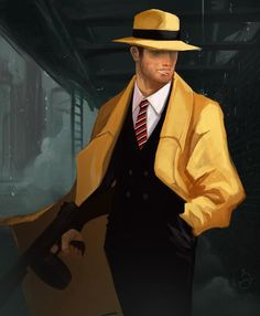 Dick Tracy by Nick Silva for @Sketch_Dailies