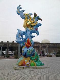 statue à St Nazaire.Pays-de-la-Loire