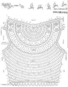 Gráficos de Crochê Túnica 1 ou Crochet Tunic Graphics 1