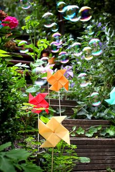 DIY - it would be cool to make these for decoration, and have bubbles too :)