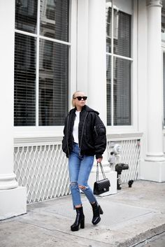 Victoria Törnegren | November 13, 2016  | Sunglasses – Céline T-shirt – Asos  Shoes – Alexander Wang  Jeans – GRLFRND Denim  Jacket – IRO Jeans  Bag – Chanel