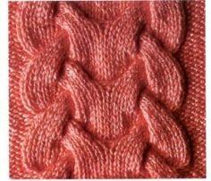 Szép kötött fonott minta | Kötni jó - kötés, horgolás leírások, minták, sémarajzok