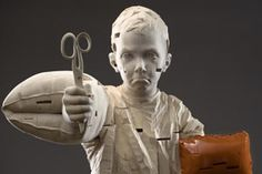 In just a few years, Gehard Demetz has risen to international prominence by applying incredible craftsmanship as a traditional woodcarver to subjects that are new and appealing to contemporary viewers. His sculptures of children are at the same time attractive and disquieting, rendered with a perfection that is by no means rhetorical or classical.