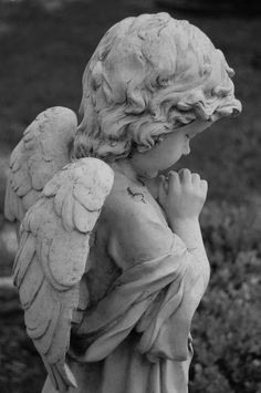 Untitled by ~SoloArcana Greek Statues, Angel Statues, Angel Sculpture, Sculpture Art, Baby Tattoos, Baby Angel Tattoo, Skull Tattoos, Foot Tattoos, Sleeve Tattoos