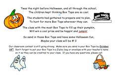 Halloween Box Tops Idea