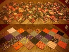 Week 36 - completed Halloween/Fall table runner. Pattern from Missouri Star Quilt Co - Zig Zag charm pack runner