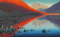 Mark A Pearce Lake District artist - paintings for sale - original linocut prints Print Artist, Artist Painting, Japanese Prints, Wood Engraving, Linocut Prints, Lake District, Woodblock Print, Paintings For Sale, Abstract Landscape