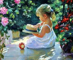 Dealings With Feelings: Beautiful Paintings by Russian painter -Vladimir Volegov Apple Painting, Painting For Kids, Figure Painting, Painting & Drawing, Art For Kids, Orange Painting, Vladimir Volegov, Russian Art, Russian Beauty