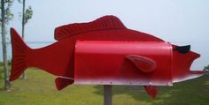 Offering unique Fish Mailboxes, Post and wall mount mailboxes shaped like fish.