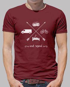 van, le sommeil, le vélo, la bière et répétez