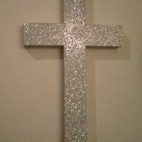 Glitter Cross Decor I Love This