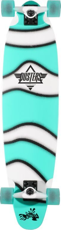 DUSTERS Dusters Demo Turquoise & White 37.5 Complete Longboard