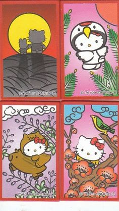 Japanese playing cards Hello kitty