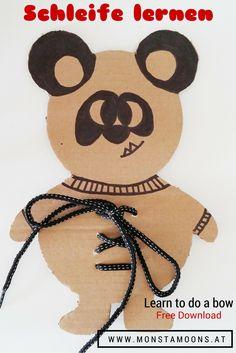 Schleife lernen leicht gemacht! Schleifen lernen DIY, learn to do a bow, how to do a bow, panda craft