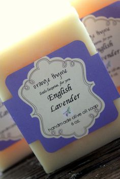 English Lavender  Olive Oil Cold Process Soap by orangethyme, $6.00