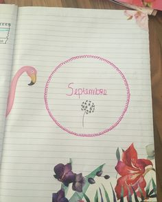 #bujo #septembre #fleurs #flowers #flammantrose