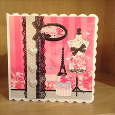 Handmade ladies card Hunkydory so chic