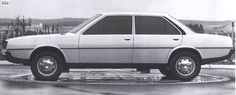 OG | 1976 Audi 100 C2 | Bertone design proposal dated 1974