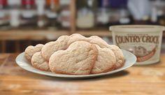 Cranberry Lemon Sugar Cookies Recipe Desserts with all-purpose flour, dried cranberries, grated lemon peel, baking soda, cream of tartar, salt, Country Crock® Spread, granulated sugar, confectioners sugar, eggs, vanilla extract
