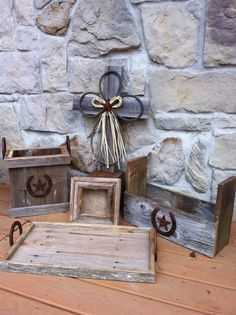 5 piece set of Rustic/Western Decor by arustictouch on Etsy, $60.00